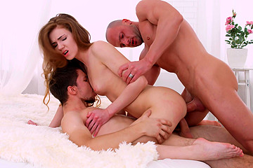 Hot Redhead Enjoys Great Company
